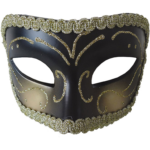 Gold and Black Medieval Opera Mask Adult Accessory