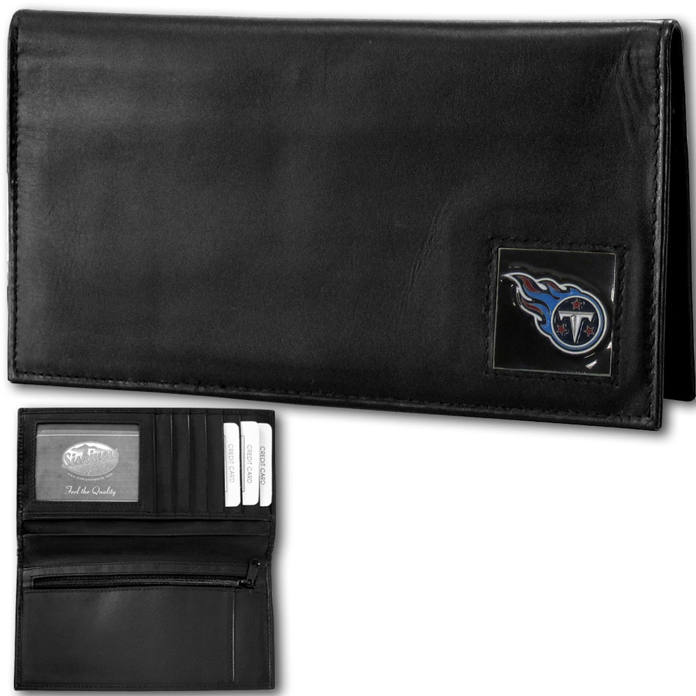 Tennessee Titans Official NFL Leather Checkbook Cover by Siskiyou 215094