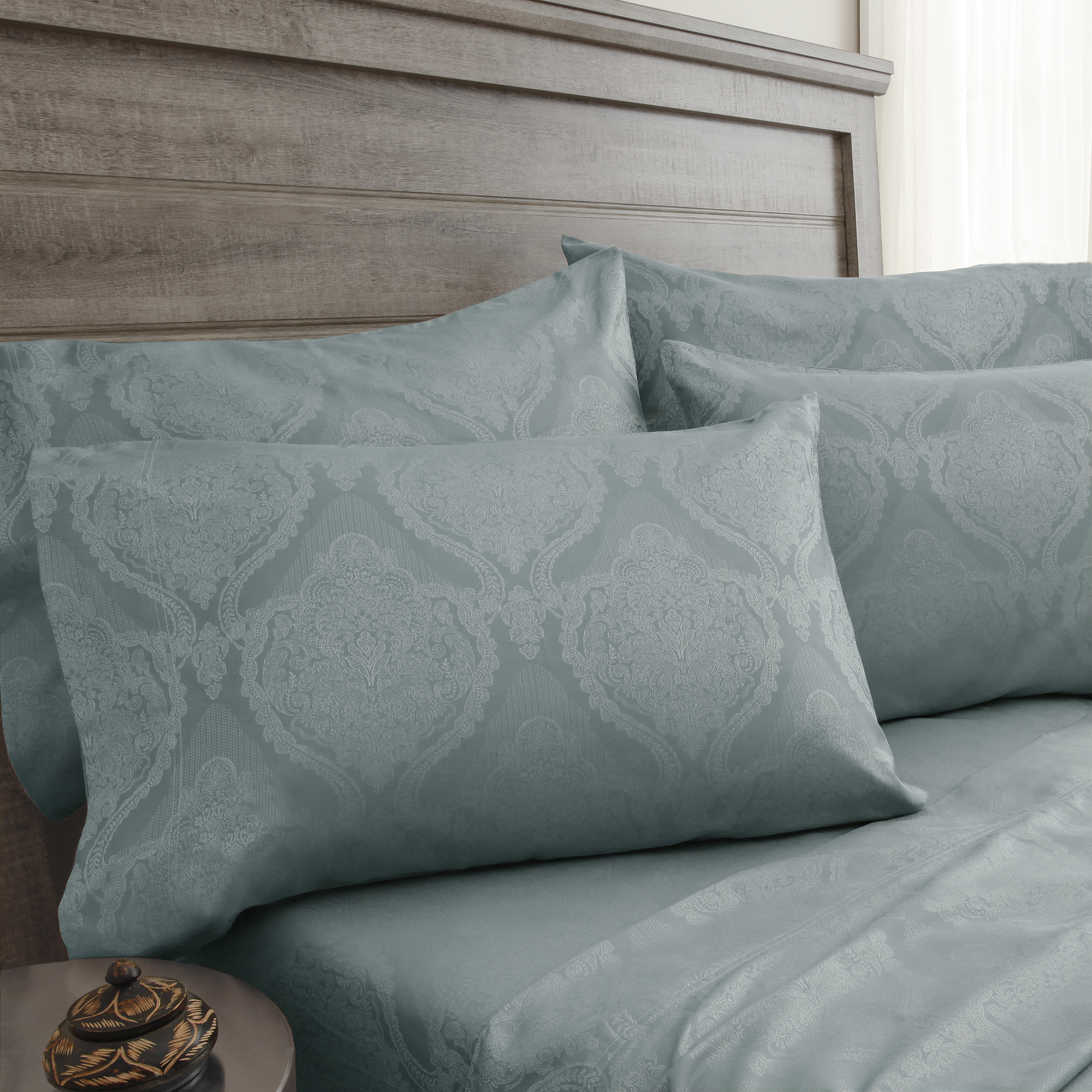 800 Thread Count Jacquard Damask Bonus Sheet Set