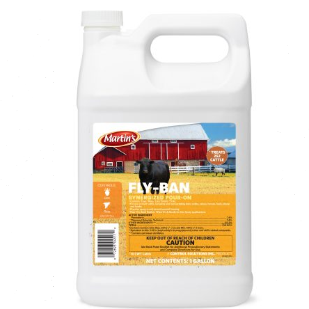 Fly-Ban Insecticide 2.5 Gallon- Cattle Insecticide Pour On