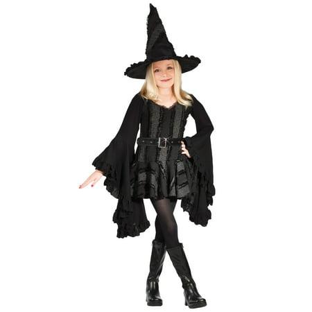 Girls Black Witch Costume (Girls Black Witch Costume)