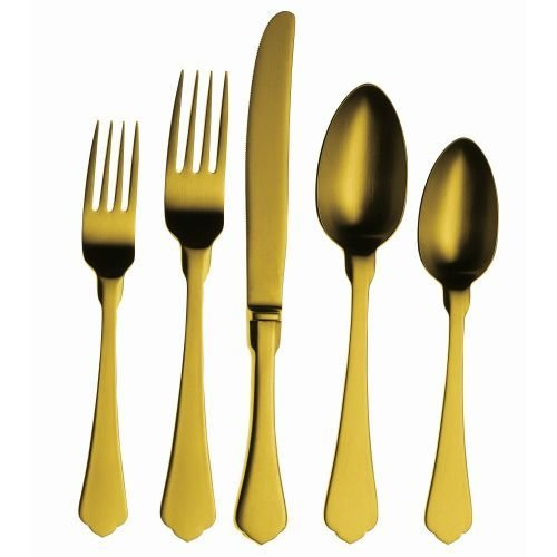 CUTLERY SET 5 PCS DUE CHAMPAGNE