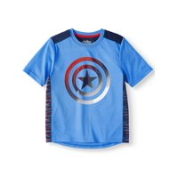 Marvel Captain America Short Sleeve Performance Tee Shirt (Little Boys & Big Boys)