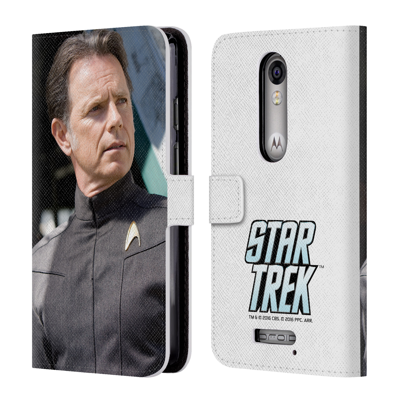 OFFICIAL STAR TREK MOVIE STILLS REBOOT XI LEATHER BOOK WALLET CASE COVER FOR MOTOROLA PHONES