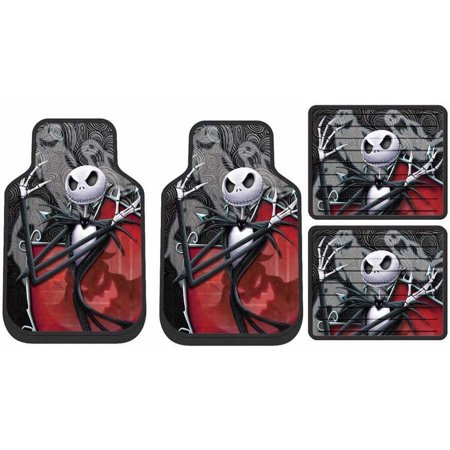 Tremendous Nightmare Before Christmas Jack Ghostly Front Rear Mats Steering Wheel Seat Covers Free Universal Bench Bralicious Painted Fabric Chair Ideas Braliciousco