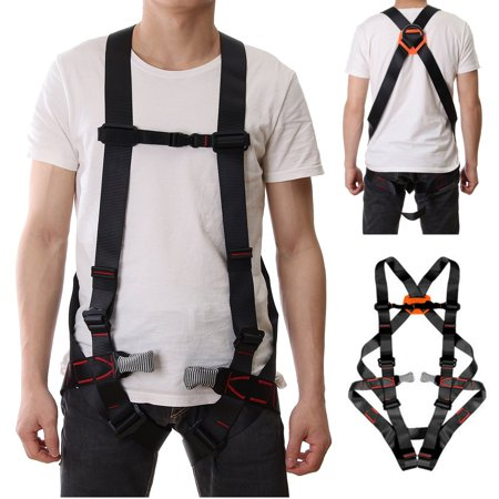 1764LB Outdoor Climbing Full Body Safety Belt Rappelling Mountaineering Harnesses Outdoor Rescue Rock Climbing Sitting Bust Protective Belt For man (Best Women's Climbing Harness)