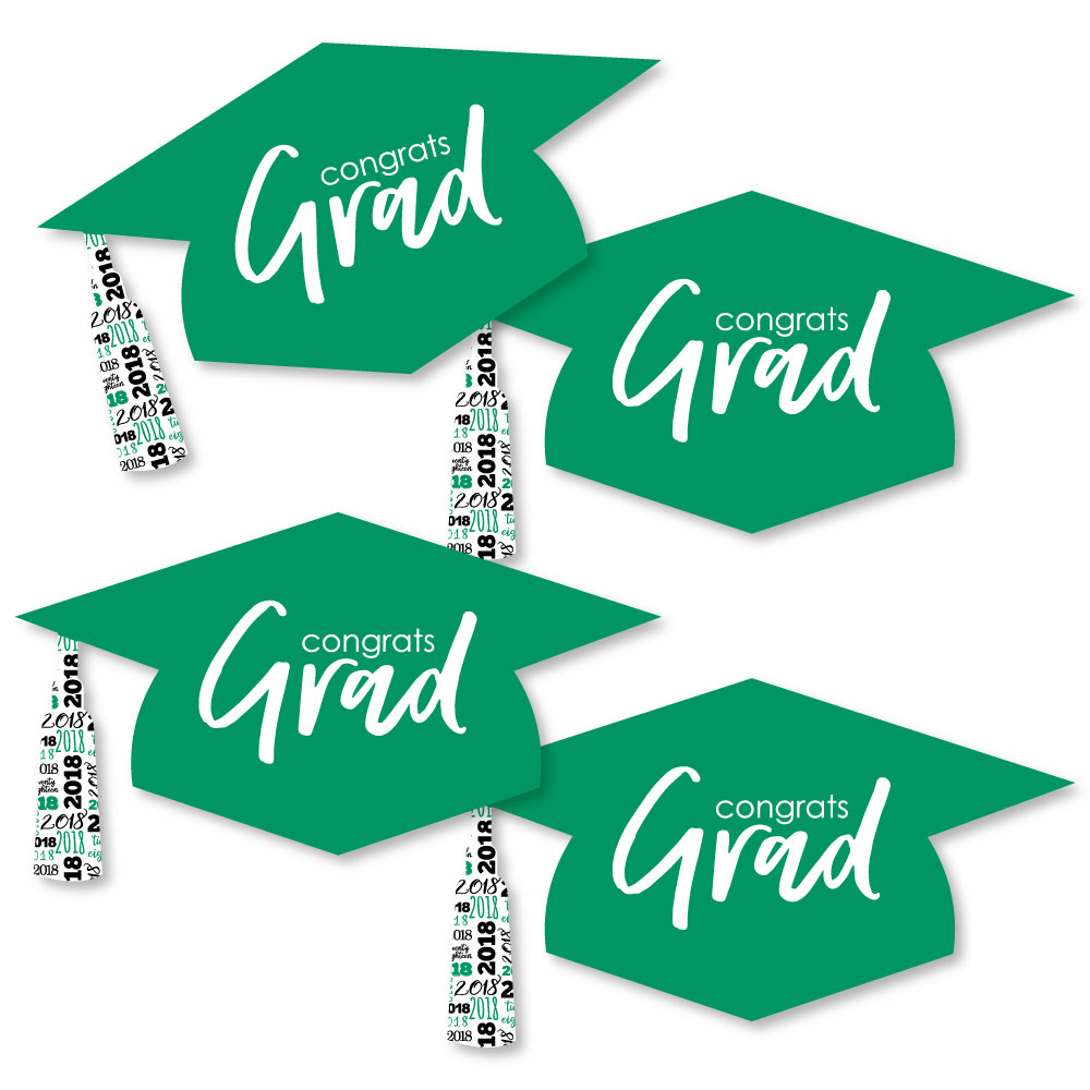 Green Grad - Best is Yet to Come - Graduation Hat Decorations DIY Green 2018 Graduation Party Essentials - Set of 20