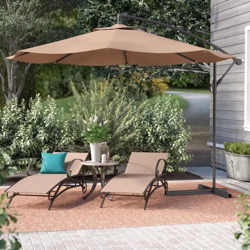 Belleze Premium Outdoor Patio Umbrella, Large Tilting Patio Umbrella