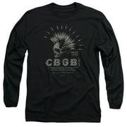 CBGB Electric Skull Mens Long Sleeve Shirt