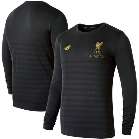 pretty nice 09ed6 2c8a9 Liverpool New Balance Manager's Collection Seamless NB Dry Long Sleeve  T-Shirt - Gray
