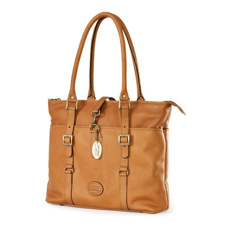 ClaireChase Ladies Computer Tote Bag - Saddle