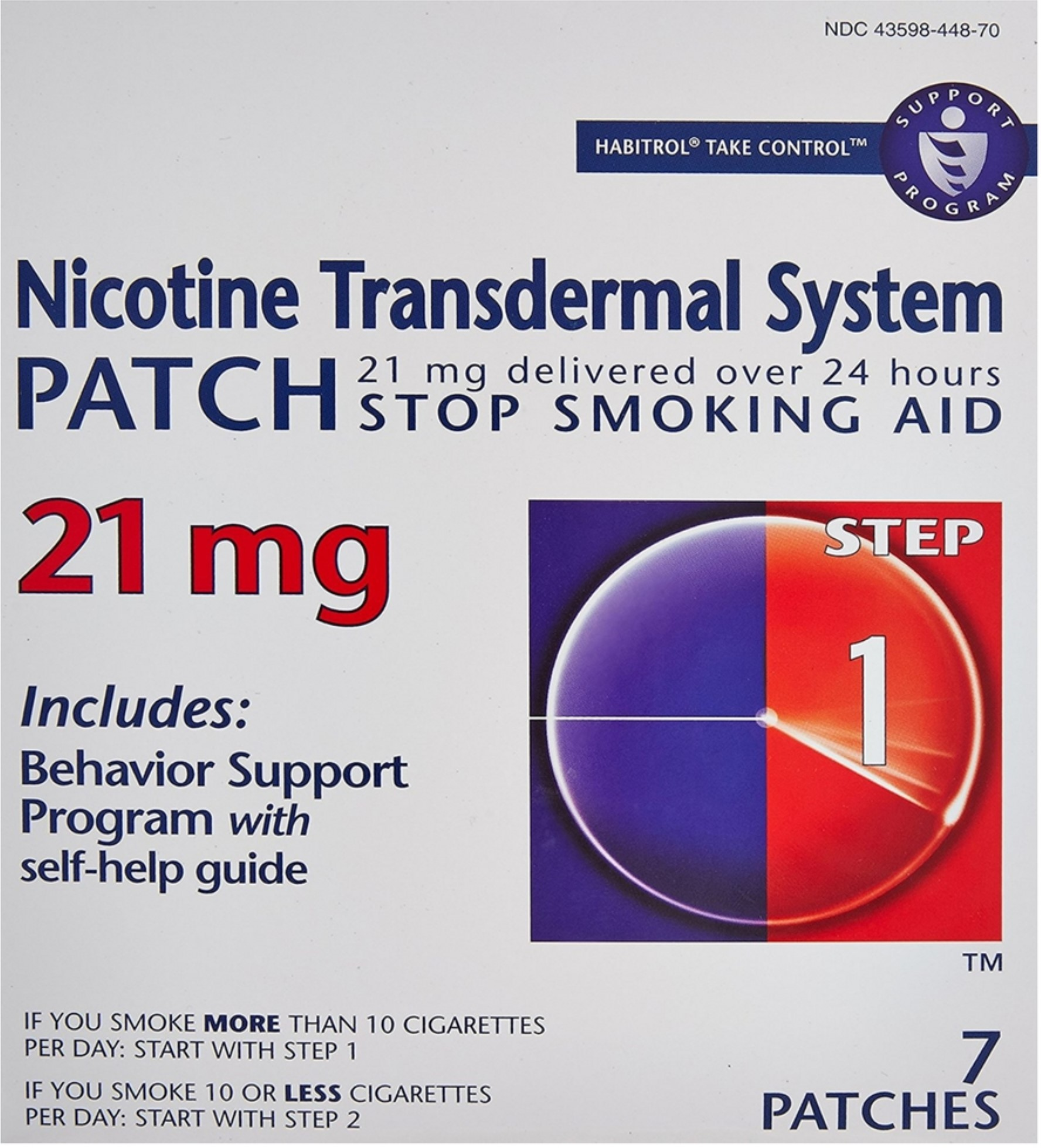 Habitrol Nicotine Transdermal System Stop Smoking Aid Patches, Step 1 7 ea