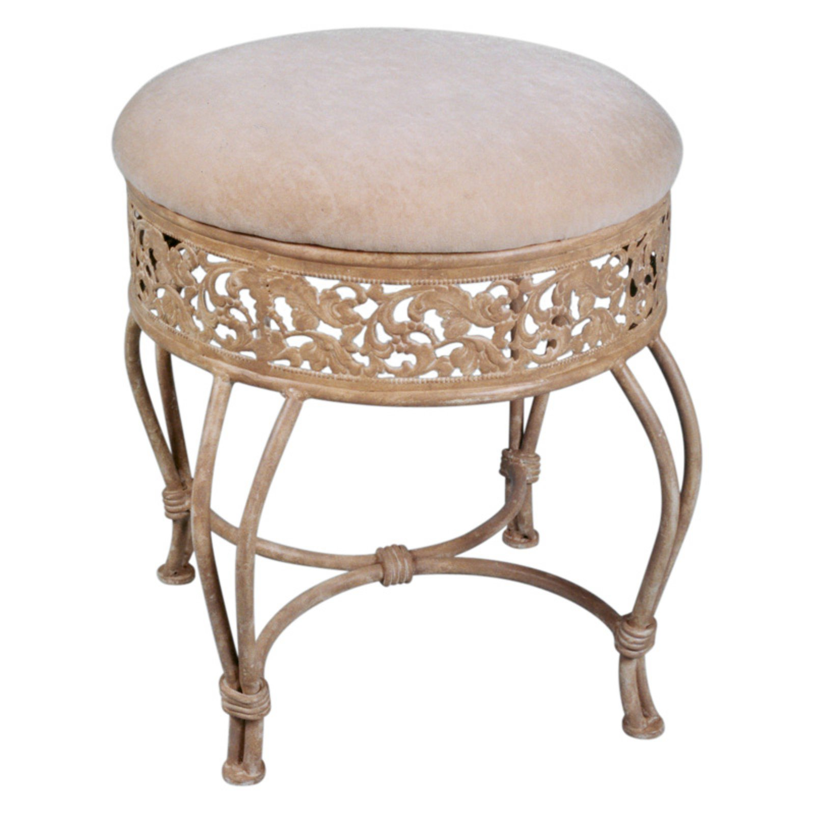Walmart.com deals on Hillsdale Furniture Villa III Vanity Stool, Antique Beige