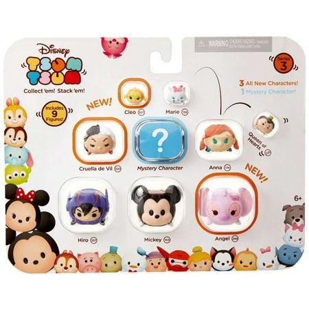 Cleo, Marie, Queen of Hearts, Cruella De Vil, Anna, Hiro, Mickey & Angel Minifigure 9-Pack - Cruella Deville Accessories Pack