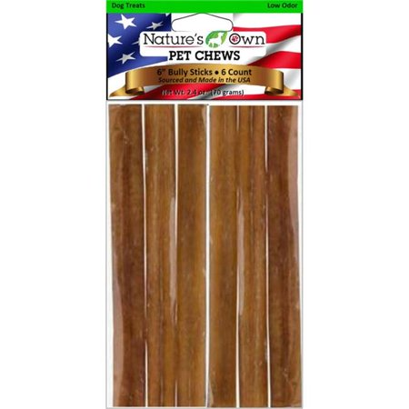 Best Buy Bones 29 6 in. Natures Own Low Odor Bully Sticks Beef Dog Chew - Pack of