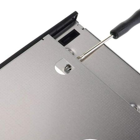 UniLink (TM) SATA 2nd HDD HD Hard Drive Caddy Case for 12.7mm Universal Laptop CD / DVD-ROM Optical Bay - image 3 de 5