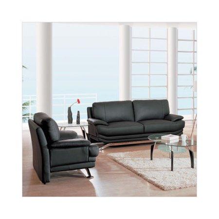 Bundle 71 Global Furniture USA Wilcox 3 Pc Leather Living Room Set Walmart