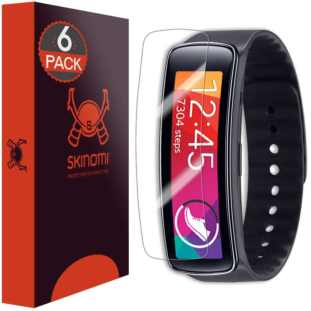 Skinomi TechSkin Clear Film Screen Protector for Samsung Gear Fit (6-Pack)