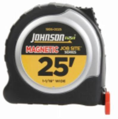 "25' X 1-1/16"" Job Site Magnetic Tip Power Tape Measure Comes With A He"