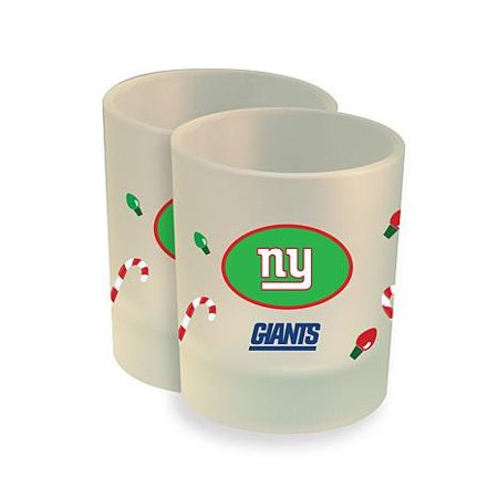 NFL 2-pack Christmas Frosted Rocks Glasses Giants