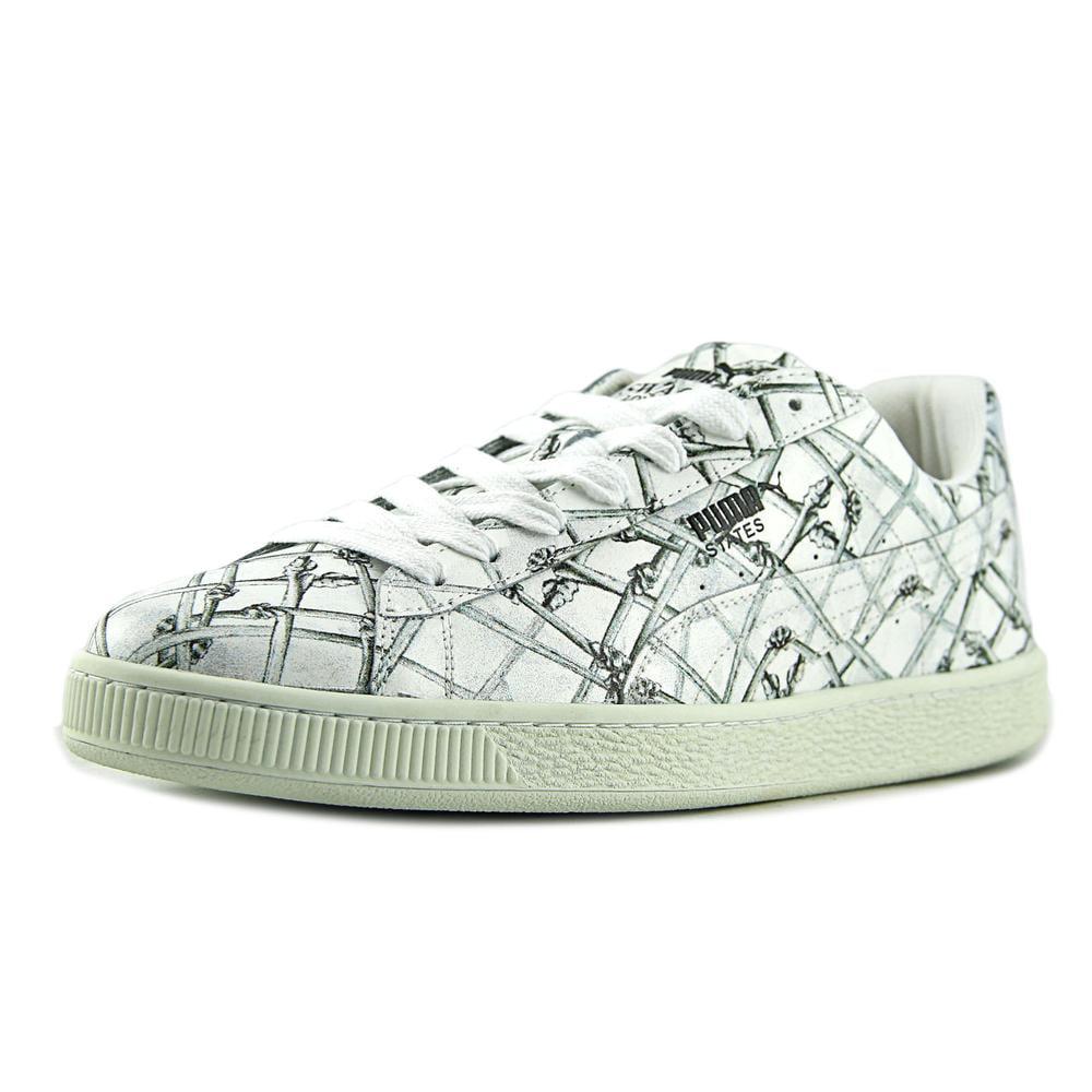 Puma States X Swash Bones Men  Round Toe Leather White Sneakers
