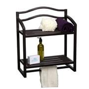 Household Essentials 2-Shelf Hanging Wall Rack, Espresso
