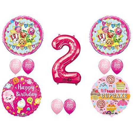 SHOPKINS 2nd BIRTHDAY PARTY Balloons Decorations Supplies Kit