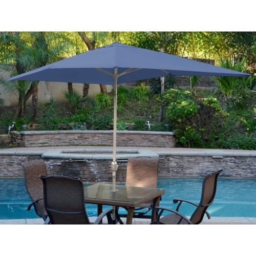 Jeco 10' Aluminum Market Patio Umbrella with Crank in Blue