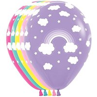 10 Magical Rainbow Cloud Assorted Colors Balloons 11""