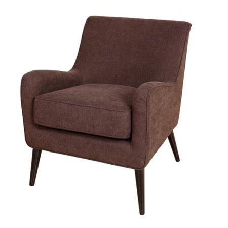 Porter International Designs Porter Kristina Chocolate Brown Microfiber Accent Chair