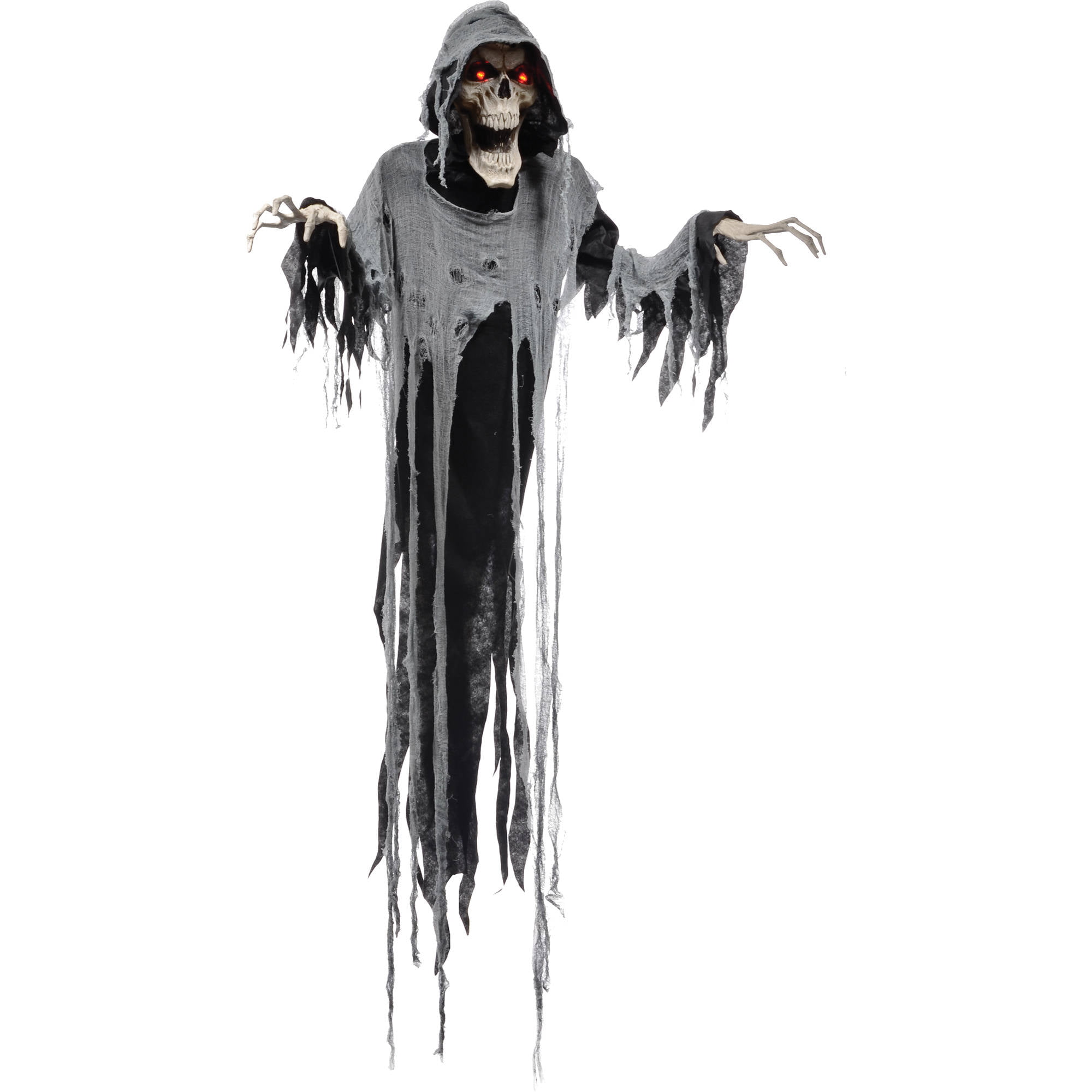 "hanging reaper 72"" animated halloween decoration - walmart"