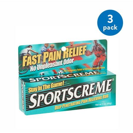 (3 Pack) Sportscreme Deep Penetrating Pain Relieving Rub