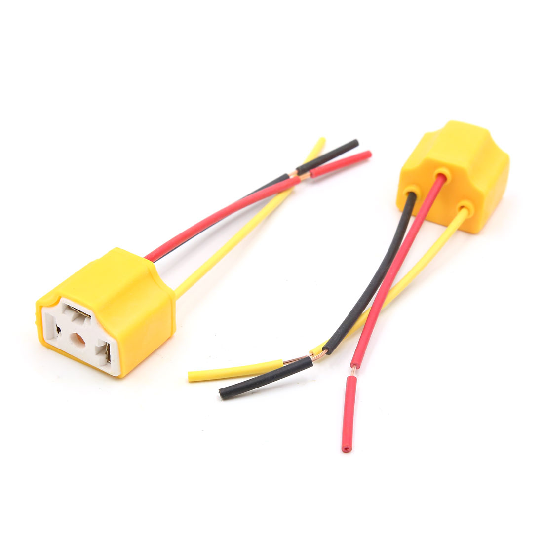 20Pcs H4 Ceramic 3 Wires Harness Socket Car Fog Light Bulb Extension Connector - image 1 of 3