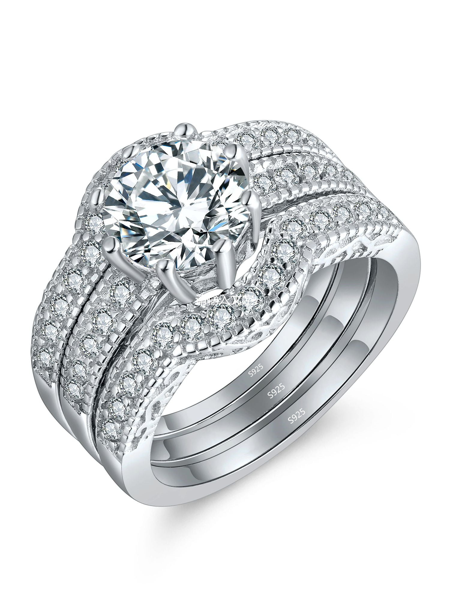 Couple Special Wedding Gift His And Her 2.50 Ct Diamond Anniversary Ring Bands