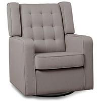 Delta Children Milan Upholstered Glider Swivel Rocker Chair,