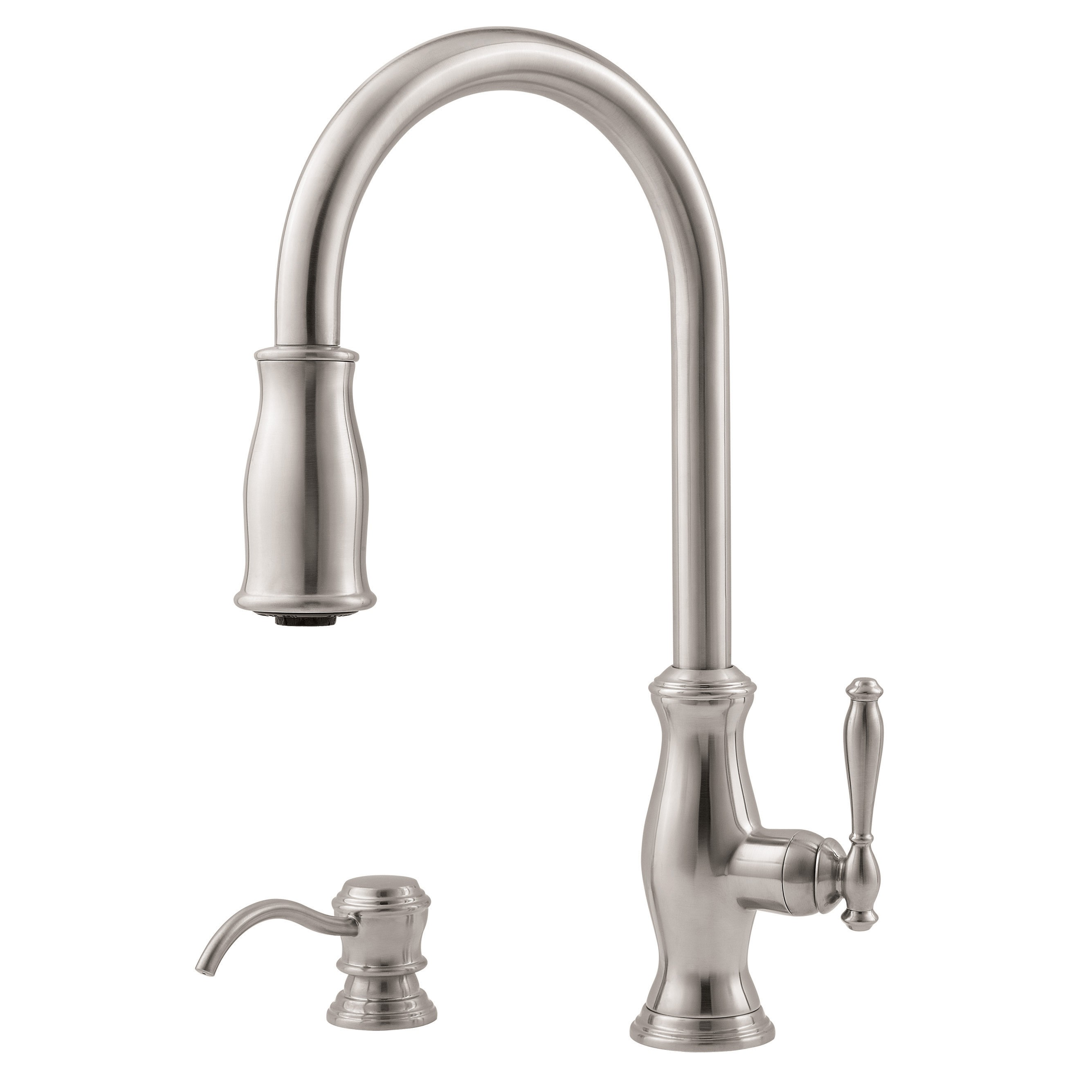 Pfister Hanover High Arc Kitchen Faucet with 2 Function Pullout AccuDock Sprayhead, Available in Various... by Price-Pfister