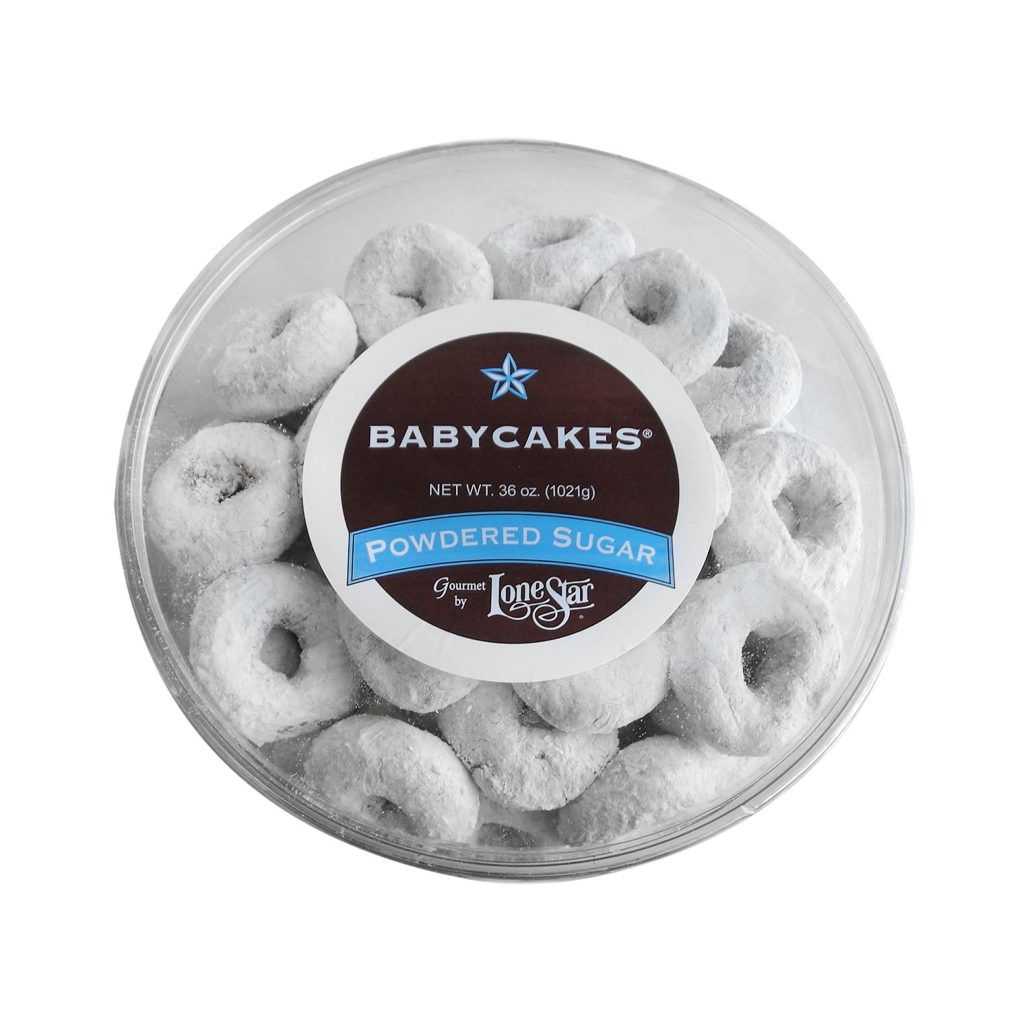 Lonestar Powdered Sugar Babycakes Donuts - 36 oz.
