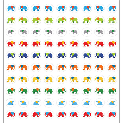Parade of Elephants Chart Seals