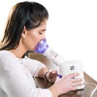 MABIS Personal Steam Inhaler Vaporizer with Aromatherapy Diffuser, Purple and White