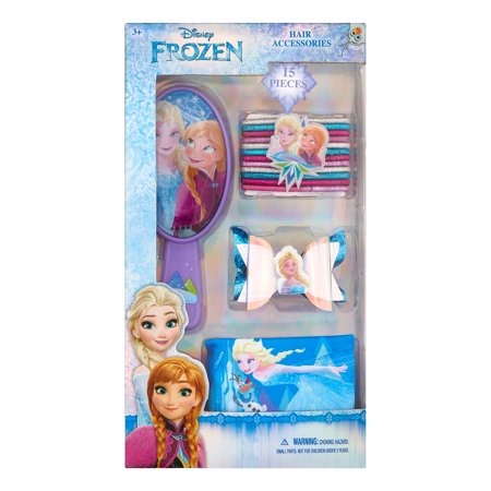 ($7 Value) Disney Frozen Hair Brush and Accessories Gift Set, 15 Pieces