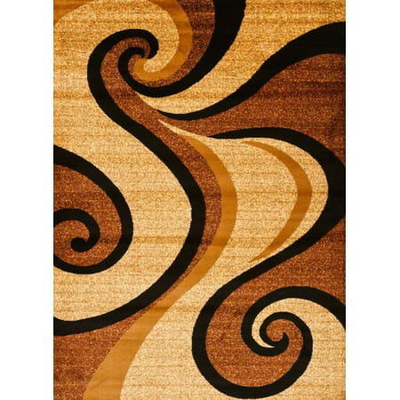 Persian Rugs Avalon 0327 Beige Modern Abstract Area Rug 5x8