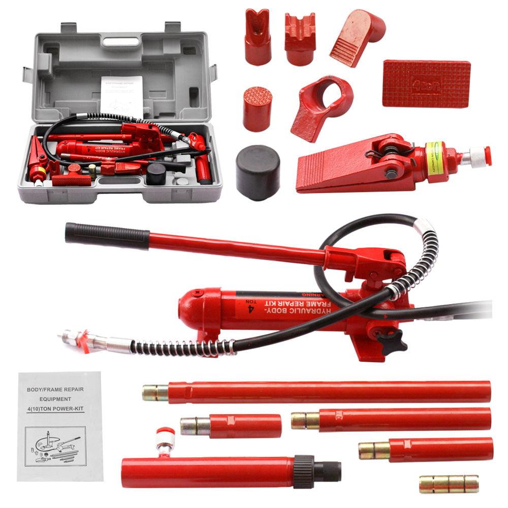 Zeny 4 Ton Porta Power Hydraulic Jack Body Frame Repair Kit Auto Shop Tool Heavy Set