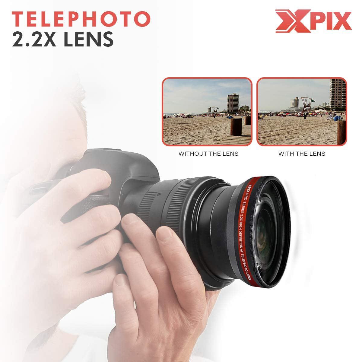 32GB Nikon D5600 for Dummies Lenses Remote Filters DSLR Backpack Deluxe Accessory Bundle W//Xpix Tripods Xpix Cleaning Kit