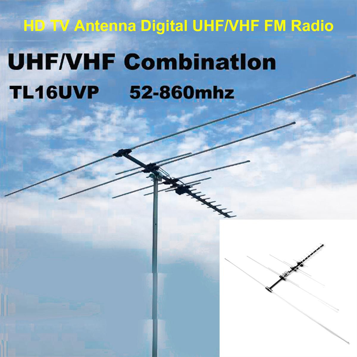 200+Mile HDTV 1080p Outdoor HD TV Antenna Digital UHF/VHF FM Radio