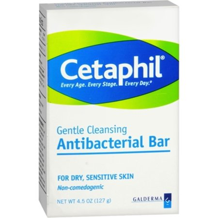 Paquete de 2 - Cetaphil antibacterial suave Barra de limpieza para Piel Seca - Sensible 450 oz