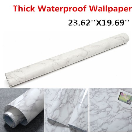 Asewan Marble Pattern Water-resistant Moistureproof Removable Self Adhesive Wallpaper Peel & Stick PVC Wall Stickers for Living Room Bathroom Kitchen Countertop Table (Best Android Tablet Wallpaper)