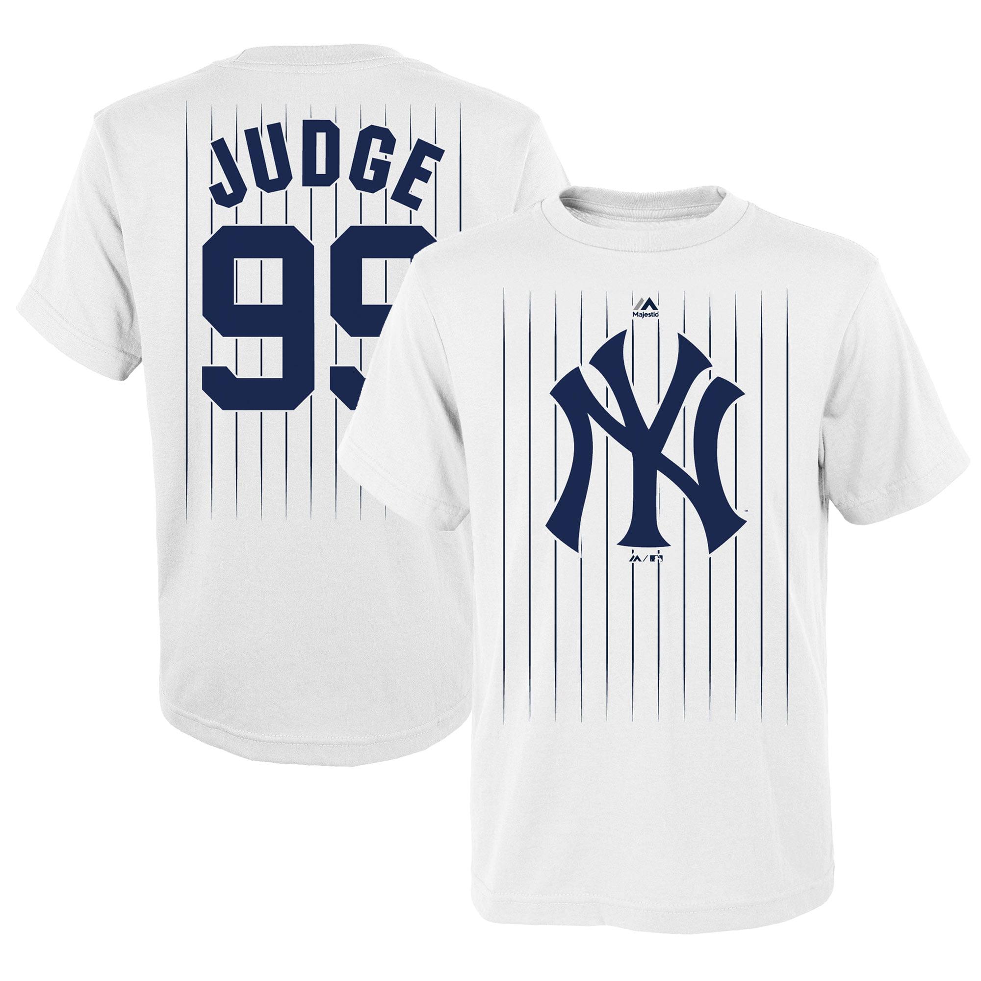 Aaron Judge New York Yankees Majestic Youth Graphic T-Shirt - White