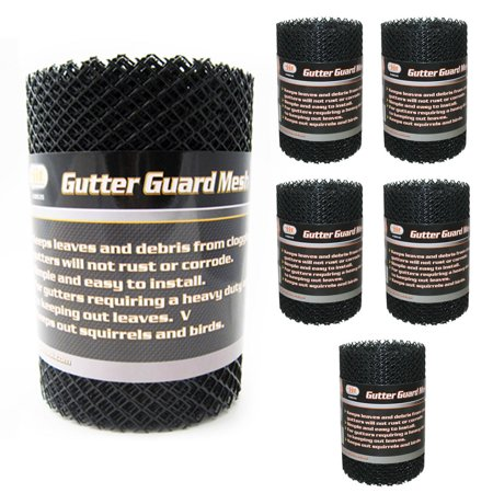 6 Gutter Guard Mesh Rolls 16 Ft X 6In Black Plastic Leafsout  Cover Easy Install