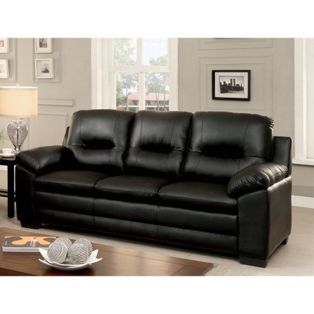 Furniture of America Truman Contemporary Leatherette Sofa, Multiple Colors ()