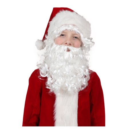 Child Santa Wig and Beard - Fake Beard For Kids